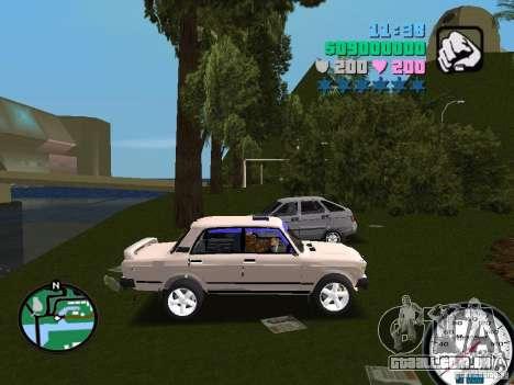 VAZ 2107 para GTA Vice City vista direita