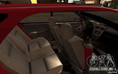 Subaru Impreza WRX Wagon 2002 para vista lateral GTA San Andreas