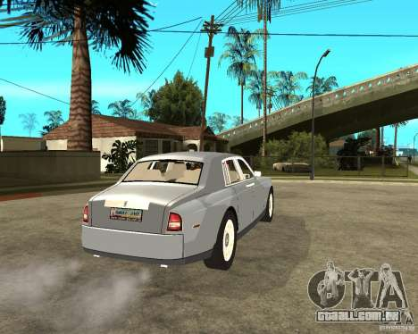 Rolls-Royce Phantom (2003) para GTA San Andreas traseira esquerda vista