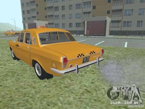 Táxi GAZ 24-01 para GTA San Andreas vista interior