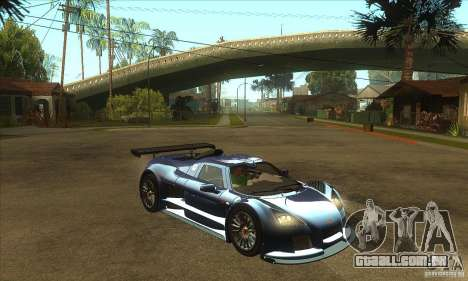Gumpert Apollo Sport para GTA San Andreas vista traseira