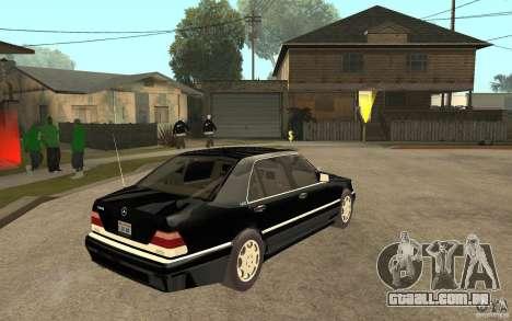 Mercedes-Benz S600 V12 W140 1998 V1.3 para GTA San Andreas vista direita