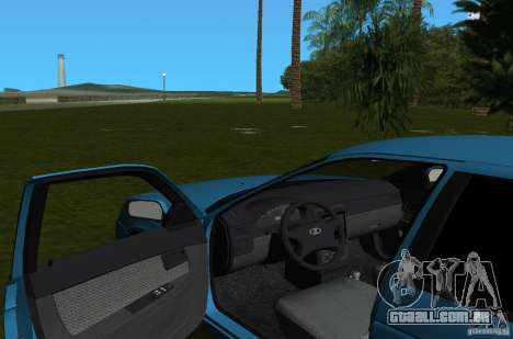 Lada Priora Hatchback v 2.0 para GTA Vice City vista interior