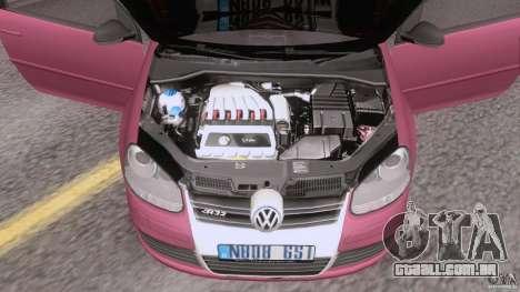 VW Golf 5 R32 2006 StanceWorks para GTA San Andreas vista traseira