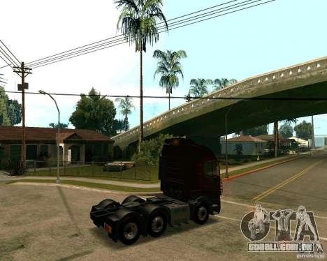 Iveco Stralis para GTA San Andreas traseira esquerda vista