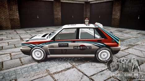 Lancia Delta Integrale Martini 1992 para GTA 4 esquerda vista
