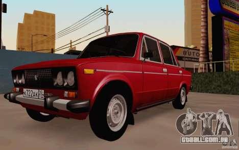 Dreno de 2106 VAZ para GTA San Andreas vista traseira
