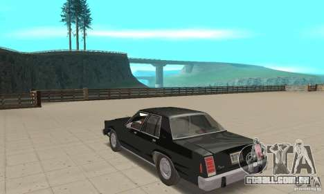 Ford LTD Crown Victoria 1985 MIB para GTA San Andreas traseira esquerda vista