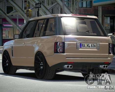 Land Rover SuperSharged para GTA 4 vista direita