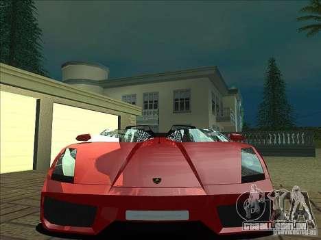Lamborghini Concept S para GTA San Andreas vista inferior
