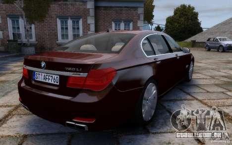 BMW 760Li 2011 para GTA 4 vista de volta