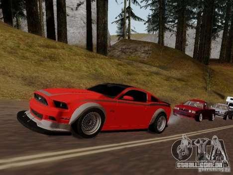 Ford Mustang RTR Spec 3 para GTA San Andreas vista traseira
