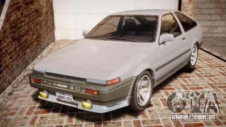 Toyota Sprinter Trueno 1986 para GTA 4