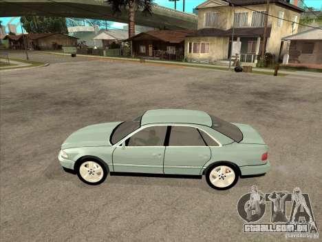Audi A8 Long 6.0 W12 2002 para GTA San Andreas traseira esquerda vista