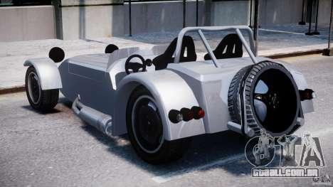 Caterham Super Seven para GTA 4 traseira esquerda vista