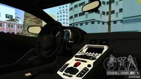 Lamborghini Aventador LP 700-4 para GTA Vice City deixou vista
