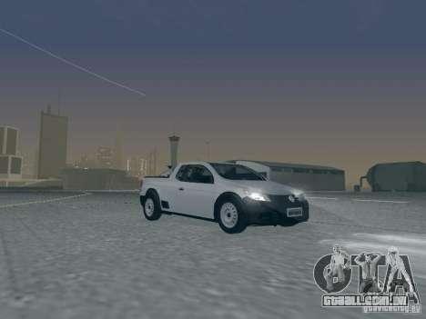 Volkswagen Saveiro 1.6 2009 para vista lateral GTA San Andreas
