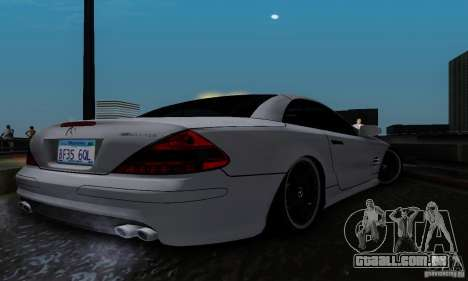 Mercedes Benz SL 65 AMG para GTA San Andreas traseira esquerda vista