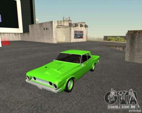 Plymouth Savoy 1962 para GTA San Andreas vista traseira