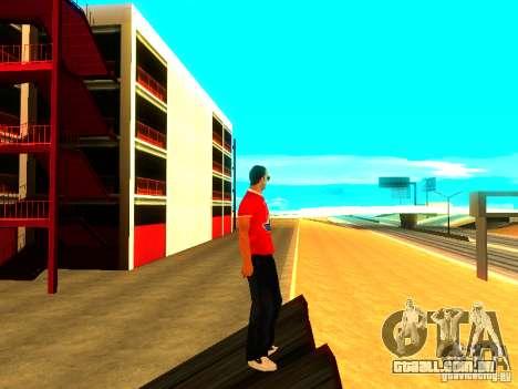 Repórter de pele para GTA San Andreas por diante tela