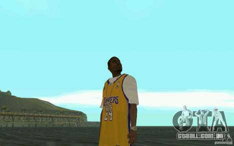 Afro-American HD skin para GTA San Andreas quinto tela
