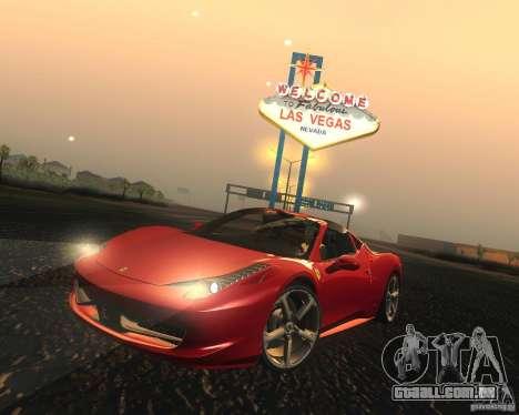 Ferrari 458 Italia Convertible para GTA San Andreas