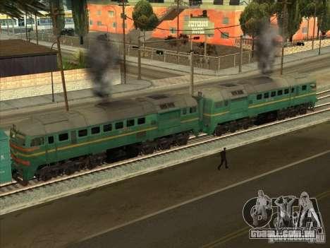 Estados bálticos locomotiva frete ferroviário im para GTA San Andreas traseira esquerda vista