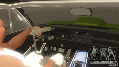 Dodge Charger RT SharkWide para GTA San Andreas vista superior