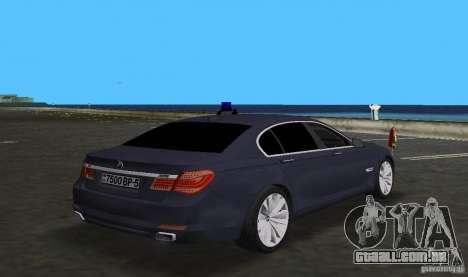 BMW 750 Li para GTA Vice City vista traseira