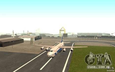 O an-124 Ruslan para GTA San Andreas esquerda vista