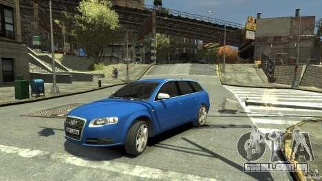 Audi S4 Avant para GTA 4 vista de volta