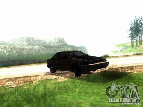 Toyota Corolla AE86 Levin para GTA San Andreas esquerda vista