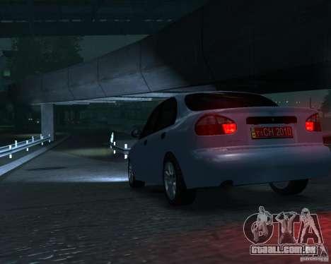 Daewoo Lanos para GTA 4 traseira esquerda vista