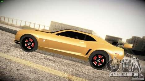 Chevrolet Camaro SS Transformers 3 para GTA San Andreas esquerda vista