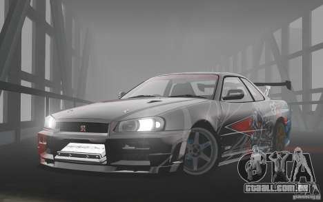 Nissan Skyline R34 Evil Empire para GTA 4