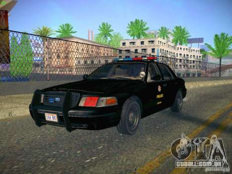 Ford Crown Victoria Police Intercopter para GTA San Andreas vista traseira