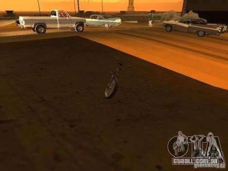 New Bmx para GTA San Andreas vista interior