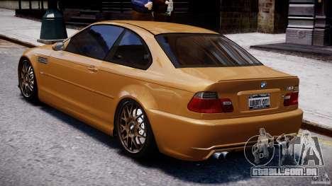 BMW M3 E46 Tuning 2001 v2.0 para GTA 4 traseira esquerda vista