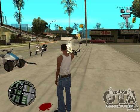 GTA IV HUD para GTA San Andreas por diante tela