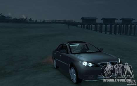 Toyota Camry 2006 para GTA 4 vista de volta