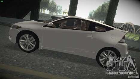 Honda CR-Z 2010 V1.0 para GTA San Andreas traseira esquerda vista