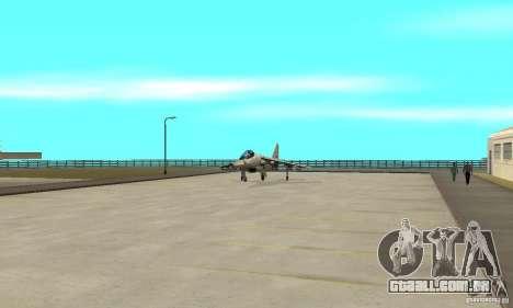 Guerra aérea para GTA San Andreas nono tela