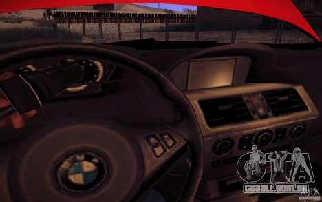 BMW M6 para GTA San Andreas vista superior