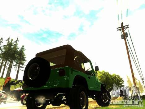 Jeep Wrangler Convertible para GTA San Andreas esquerda vista