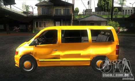 Mercedes Vito para GTA San Andreas esquerda vista