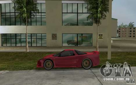 Acura NSX 2004 Veilside para GTA Vice City deixou vista