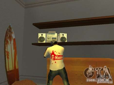 T-shirt tectônica para GTA San Andreas segunda tela