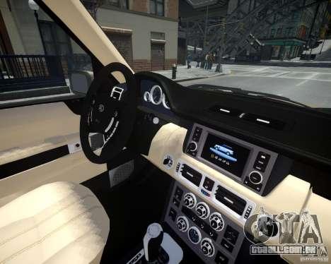 Land Rover SuperSharged para GTA 4 vista lateral