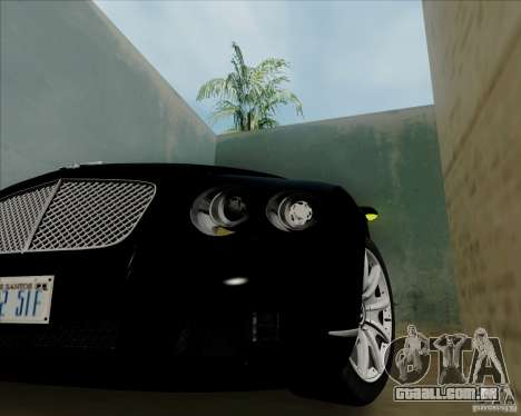 Bentley Continental GT V1.0 para GTA San Andreas vista traseira