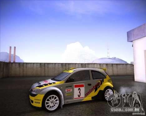 Opel Corsa Super 1600 para GTA San Andreas vista direita